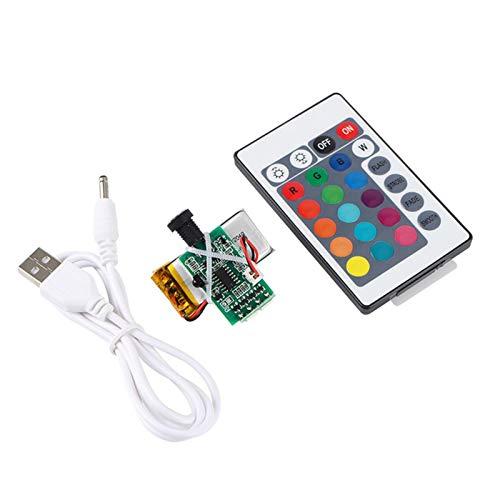 POHOVE Placa de Circuito de lámpara de Luna de impresión 3D, Placa de Circuito de Interruptor táctil de luz Lunar LED de 16 Colores con Control Remoto, lámpara no incluida