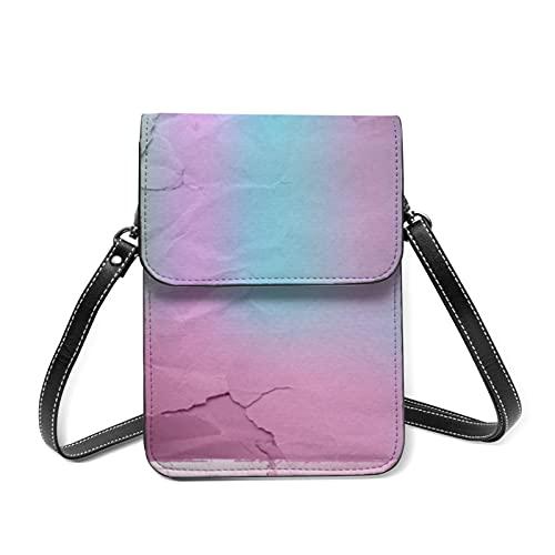 Bolso de hombro para mujer, diseño de hojas grunge y ligero, RFID bloqueando cartera con cinturón ajustable, Grunge Lacerated Papel arrugado, Talla única
