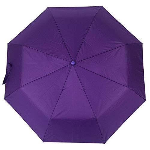 Parasol Parapluie Parapluie Automatique Pluie Femmes Hommes 3 Pliant Léger Et Durable Solide Parapluies Colorés Pluvieux Ensoleillé Violet