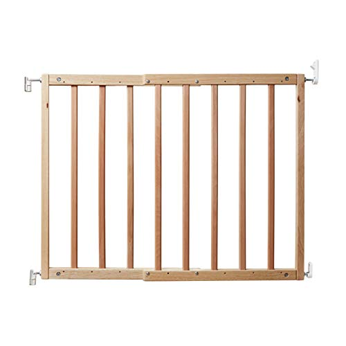 """PRIMETIME PETZ 33719 Safety Mate Expandable Pet and Baby Gate, Sturdy Wall Mountable Safety Gate for Hallways, Stairs, Fits Openings from 24.5"""" to 41"""", Natural, one size"""