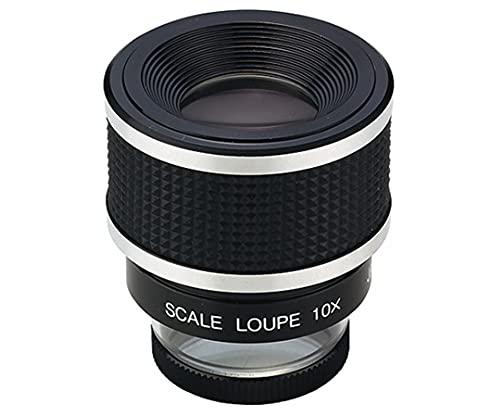 クリアー光学 0.1mm目盛付 スケールルーペ 10倍 28mm 収差補正レンズ P-1028
