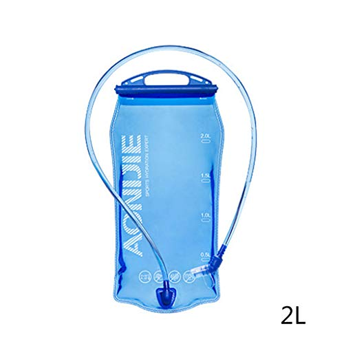Batyuery 1L 1.5L 2L 3L Foldable Soft Reservoir Water Bladder Hydration Pack Water Bag for Running Cycling Marathon