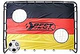 Best Sporting 11099 Fußballtor 213x152cm + DFB Lizenz Unterschriften Ball WM 2018