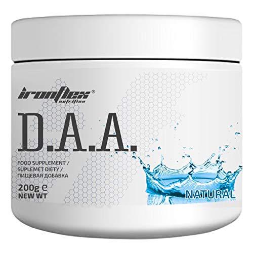 IronFlex D.A.A. Confezione da 1 x 200g - DAA - Acido D-Aspartico - Acido Ascorbico - Vitamina B6 - Booster Testosterone (Natural)