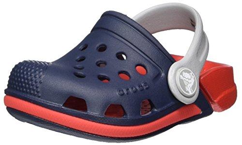 Crocs Kids' Electro Clog, Navy/Flame, 4 M US Toddler