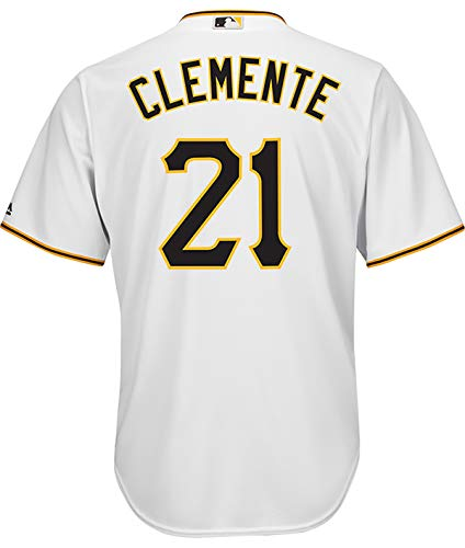 Outerstuff Roberto Clemente Pittsburgh Pirates White Youth 8-20 Cool Base Home Replica Jersey (14-16)