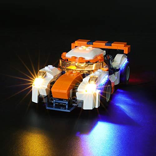 BRIKSMAX Led Beleuchtungsset für Lego Creator Rennwagen,Kompatibel Mit Lego 31089 Bausteinen Modell - Ohne Lego Set