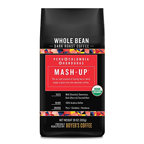 Boyer's Coffee Mash-Up Organic Whole Bean Coffee, Dark Roast (30 Oz.)