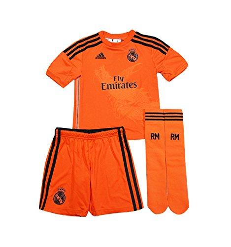 Adidas Real Madrid 3 Torwart Kindertrikot Minikit M37486 Jungen Fußballtrikot / Fantrikot / Fußballshorts Orange 92