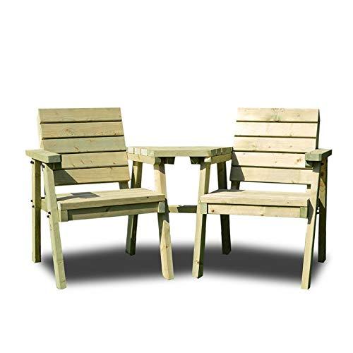 Rutland County Garden Furniture THISTLETON COMPANION SEAT - GREEN - HEAVY DUTY - HAND MADE IN THE UK