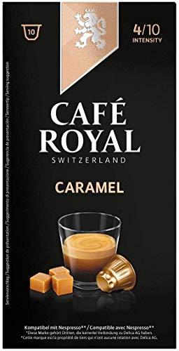 Café Royal Caramel Flavoured Edition, 100 Nespresso kompatible Kapseln, 10er Pack (10 x 10 Kaffeekapseln)