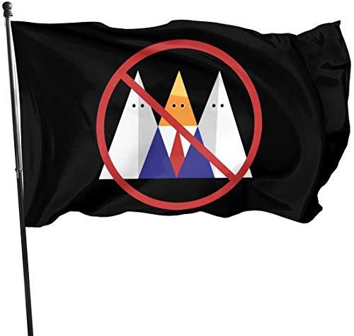 Viplili No Trump No KKK Hausgarten Flagge für Haus Veranda im Freien Willkommen Urlaub Dekoration, Fit Weihnachten/Geburtstag/Happy New, 3x5ft