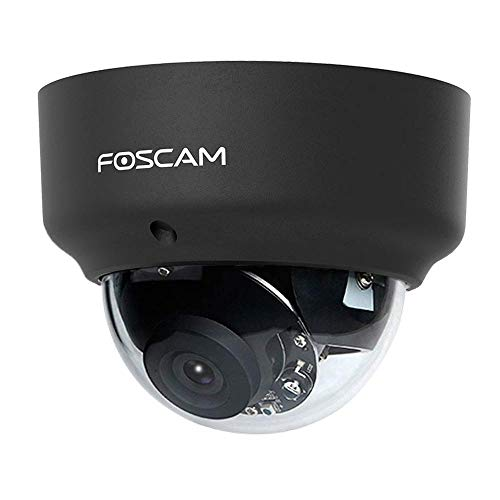 Foscam D2EP Full HD 2 MP PoE P2P WDR 2.0 Cámara IP de vigilancia con visión Nocturna IR hasta 20 m, detección de Movimiento, Color Negro