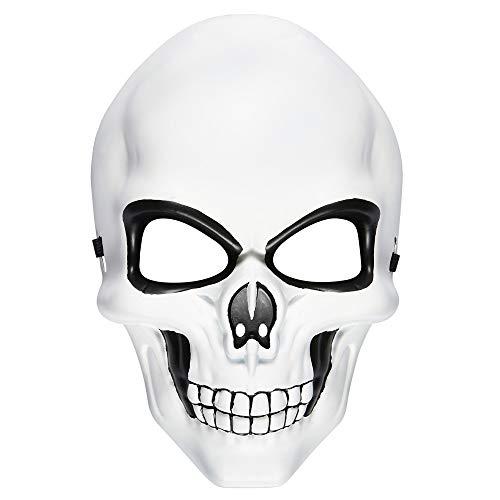 Widmann 95706 - Maske Totenkopf, Skelett, Mottoparty, Karneval, Halloween