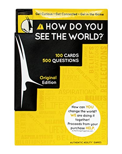 Authentic Agility Conversation Card Game (100 Cards - 500 Questions) Family Card Games for Adults, Teens, Kids - Ice Breakers, Get to Know People, Communication Skills for Parties & Gatherings
