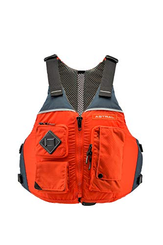 Astral Ronny Life Jacket PFD for Recreation, Fishing, and Touring Kayaking, Burnt Orange, M/L