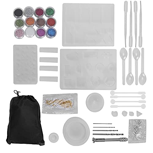 Juegos de moldes de fundición de silicona, molde colgante de pendiente, para hacer joyas, collar colgante, pendientes, decoración, soporte de joyería DIY