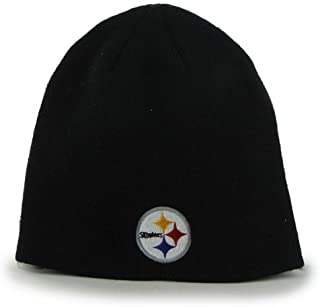 3194003d045 Reebok NFL Cuffless Team Logo Beanie Hat - Football Knit Skull Cap