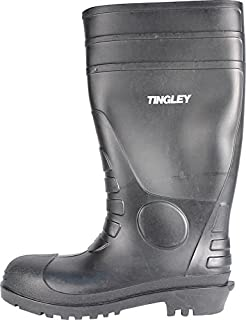 TINGLEY 31151 Economy SZ6 Kneed Boot for Agriculture, 15-Inch, Black, 6 D(M) US,