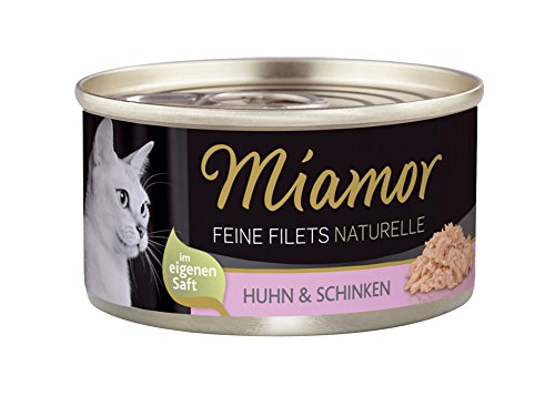 Miamor Feine Filets naturelle Huhn & Schinken, 24er Pack (24 x 80 g)