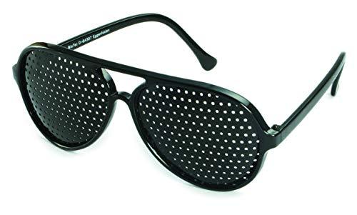 Rasterbrille 415-PSG ganzflächiger Raster, schwarz