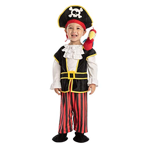 Spooktacular Creations Baby Pirate Costume for Infant Halloween Trick or Treating,Dress-up Parties (18-24 Months) Black