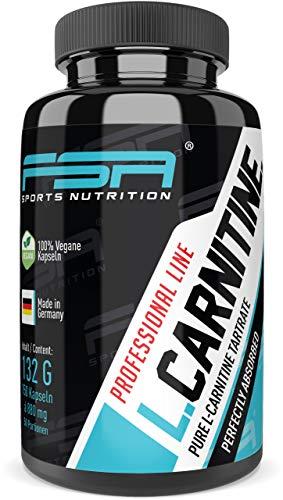 Tartrate de L-Carnitine fortement dosé, 150gélules, 735mg de tartrate de L-Carnitine par gélule végétalienne - de la marque de sport professionnelle FSA Nutrition, Fabriqué en Allemagne