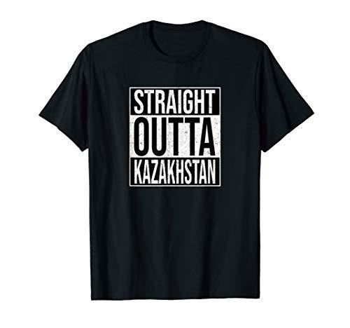 Straight Outta Kazakhstan - Kasachstan Nationalstolz T-Shirt