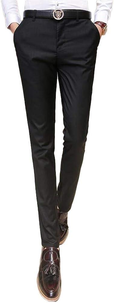 Men's Classic-Fit-Fit Dress Pants Flat Front Suit Pants Casual Pants Trousers