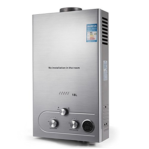Guellin LNG Calentador de Agua de Gas Natural Calentador de Agua Calentador de Agua Automático Calentador de Agua Instantáneo Natural Gas Water Heater (18L)