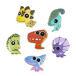 1. MORCART Cute Dinosaur Refrigerator Magnets Set (6 pieces)