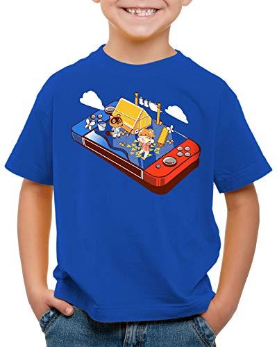 A.N.T. Crossing Pocket T-Shirt pour Enfants Switch Animal Jeu vidéo Horizons, Couleur:Bleu, Taille:164