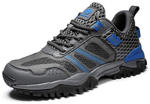 Eagsouni Laufschuhe Herren Damen Traillaufschuhe Sportschuhe Turnschuhe Sneakers Schuhe für Outdoor Fitnessschuhe Joggingschuhe Straßenlaufschuhe, Dunkel Grau B, 43 EU