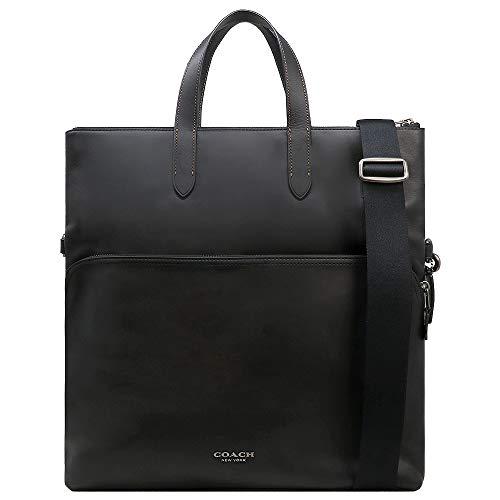 Coach Graham Leather Foldover Tote Laptop Bag - #F50712 - Black