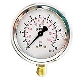 Manómetro de glicerina 0-10 Bar 1/4'