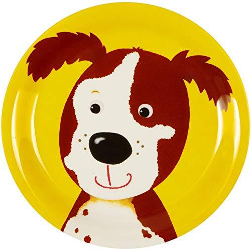 Die Spiegelburg 13228 Kleiner Melamin-Teller Hund Freche Rasselbande