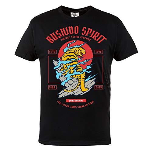 Rule Out Casual T-Shirt. Bushido Spirit. Kampfkunst. Schwarz (Größe XLarge)