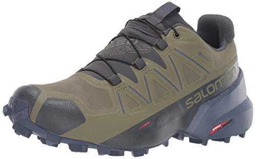 Salomon Women's Speedcross 5 GTX Trail Running Shoes, Burnt Olive/Crown Blue/India Ink, 9.5