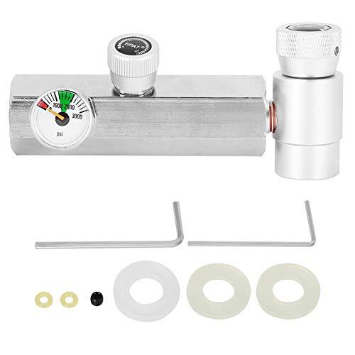Semiter Conector de Recarga de Cilindro, confiable con Calibre de 3000 PSI Accesorios prácticos Accesorios de llenado, Conveniente para SodaStream para Soda Club Home Factory