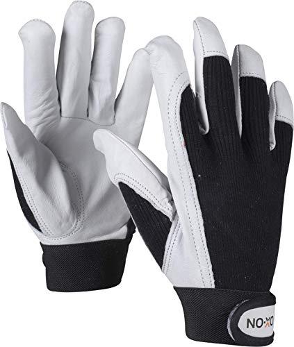 HandschuhMan. OX-ON Keox Arbeitshandschuhe, Lederhandschuhe mit Klettverschluss, Gr. 8-12 (10/XL)