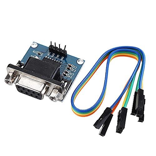 Módulo electrónico DC5V MAX3232 MAX232 RS232 a TTL serie Convertidor de Comunicaciones...