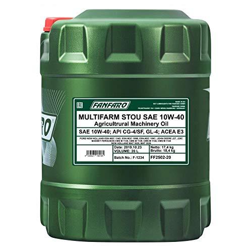 1x 20L fanfaro multifarm stou 10W de 40API CG de 4GL de 4/Motor de Engranaje de hidráulico de aceite Diseño de País eléctrica