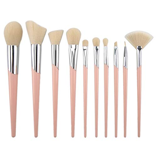Nikgic Make Up Pinsel Set Zahnbürste Kosmetik Burste Brush Set Rosa 10 Stück