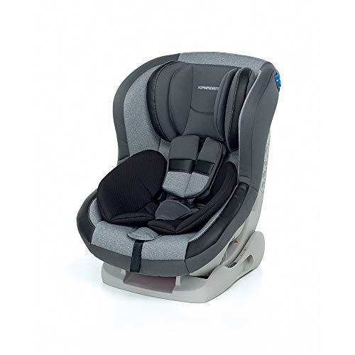 Foppapedretti Mydrive Seggiolino Auto Gruppo 0+/1 (0-18kg), per Bambini dalla Nascita Fino a 4 Anni Circa, Grigio (Silver)