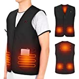 USB Heated Vest for Men Women, 5V Electric Heating Vest, Washable Heated Jacket Body Warmer for Cold...