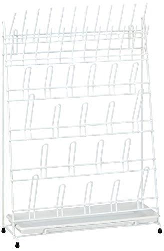 neoLab E-6971 Abtropfgestell aus Draht, 24 Stäbe, 20 Bogen, Weiß