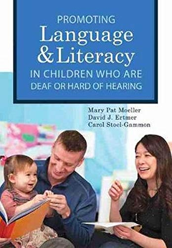Compare Textbook Prices for Promoting Speech, Language, and Literacy in Children Who Are Deaf or Hard of Hearing Volume 20 CLI 1 Edition ISBN 9781598577334 by Moeller Ph.D., Mary Pat,Ertmer Ph.D., David J.,Stoel-Gammon Ph.D., Carol