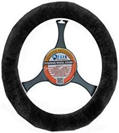 Aegis Cover 901001BLK Black Sheepskin Steering Wheel Cover