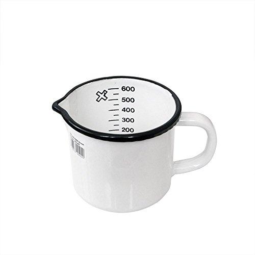 Karl Krüger - Cazo para leche con boquilla (diámetro de 10 cm), color blanco