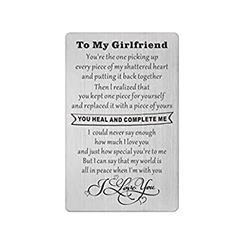 Engraved Wallet Cards for Girlfriend Girlfriend Birthday Gift I Cant Say I Love You Enough Anniversary Present for Girlfriend Love Notes for Her Christmas Valentines